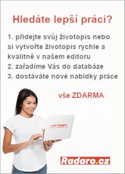 Radaro.cz - vložit životopis